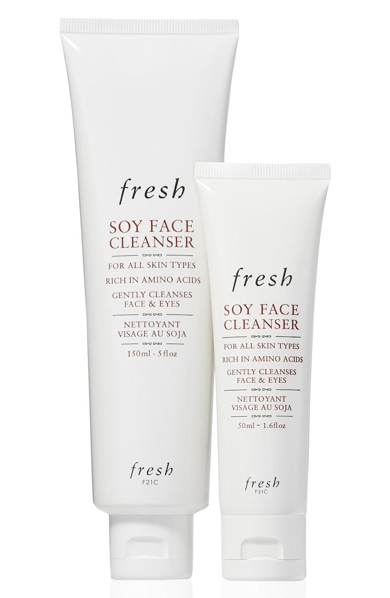 Fresh Soy Face Cleanser Home & Away Set. Image via Nordstrom.