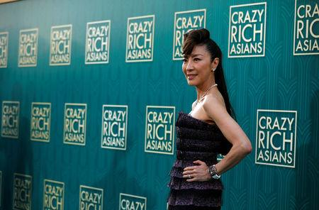 "Cast member Michelle Yeoh poses at the premiere for ""Crazy Rich Asians"" in Los Angeles, California, U.S., August 7, 2018. REUTERS/Mario Anzuoni"