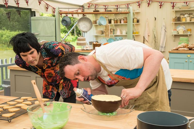 Great British Bake Off: What's Dan up to? Noel is puzzled.