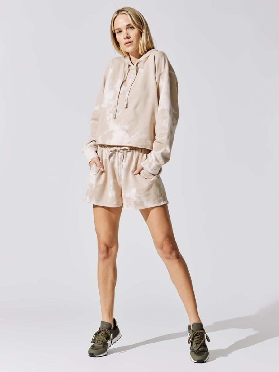 <p>This <span>Carbon38 Tie Dye Hoodie With Pocket</span> ($138) and <span>Short</span> ($98) is so easy to wear.</p>