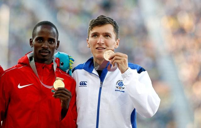 Wightman (right) has claimed Commonwealth and European bronze medals (Martin Rickett/PA).