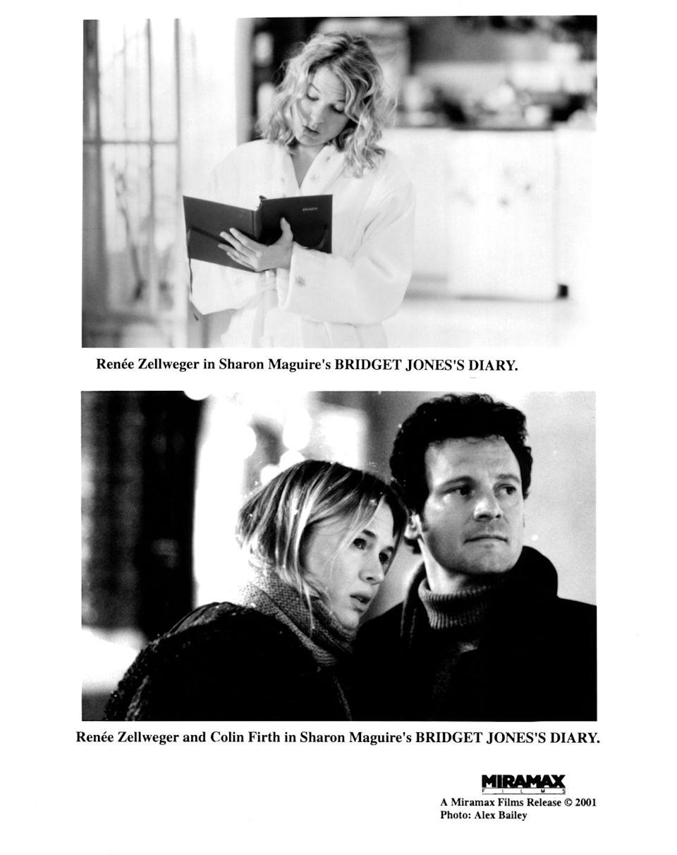 """<p>The movie franchise, adapted from <em>Pride and Prejudice, </em>introduces viewers to the quirky, lovable Bridget Jones. Bridget is used to being single and suddenly finds herself in a love triangle with Mark and Daniel. While we figured Bridget would pick Daniel, her handsome boss, eventually she realizes that he's a playboy. While Bridget is led to believe that Mark is brash, rude and unhappy, things change when he tells her that he likes her """"just as you are."""" Swoon. Bridget starts to have feelings for Mark, who is engaged to another woman. Mark surprises Bridget, but also finds her diary, where she had some unflattering things to say about him. After running into the street in her underwear, the two kiss and Bridget starts a new diary.</p>"""