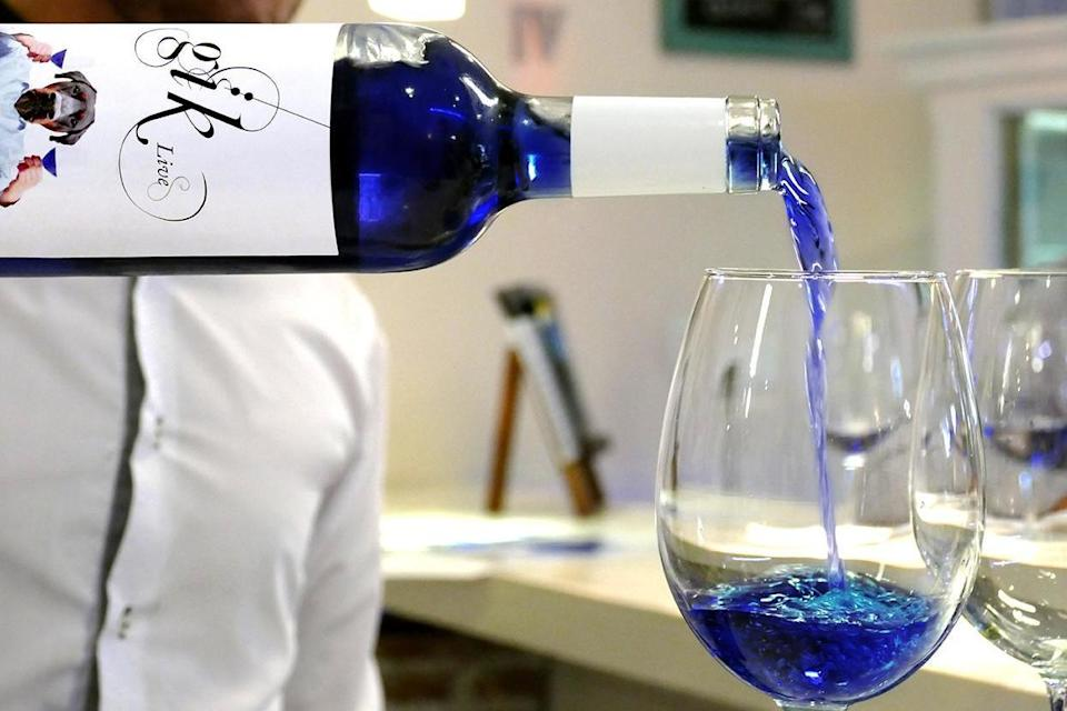 Blue wine is now a thing [Photo: Gik Live]