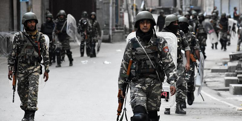 The Centre has ordered 'immediate' withdrawal of about 10,000 paramilitary forces personnel from the Union Territory of Jammu and Kashmir. Photo: Getty Images