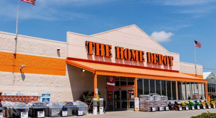 the outside of a home depot store (Best dividend-paying stocks)