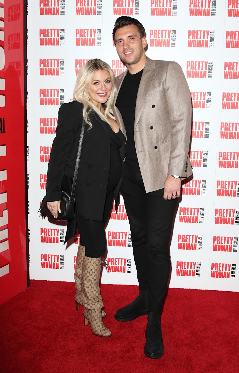 Sheridan Smith and Jamie Horn attend the Pretty Woman, The Musical Press Night at the Piccadilly Theatre in London. (Keith Mayhew / Echoes Wire/Barcroft Media via Getty Images)
