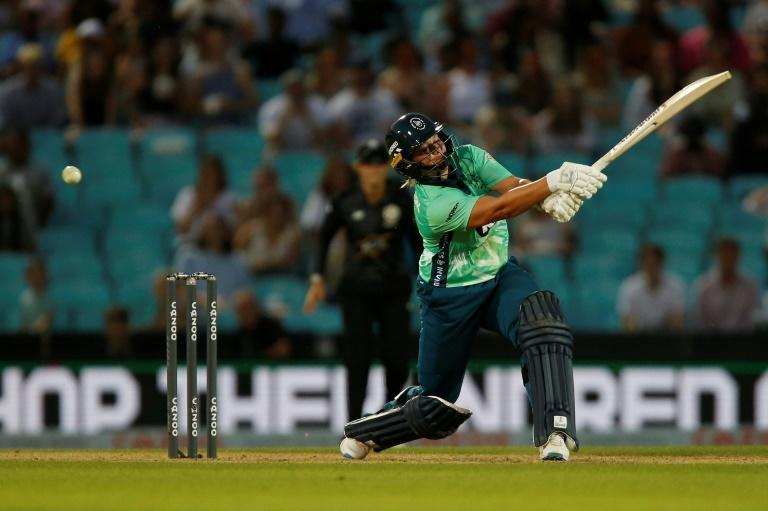 Winning hit - Oval Invincibles women's captain Dane van Niekerk seals a five-wicket win over Manchester Originals in the inaugural match of English cricket's new Hundred competition on Wednesday
