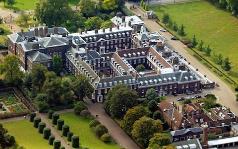 An aerial view of Kensington Palace, London - Credit: Andrew Parsons/PA Wire