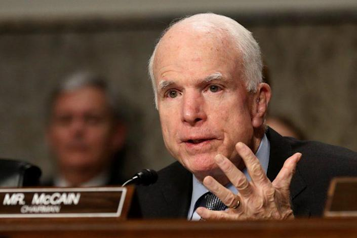 Sen. John McCain, R-Ariz., speaks at a Senate Armed Services Committee hearing in January. (Photo: Jonathan Ernst/Reuters)