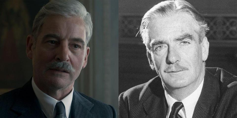 <p>Actor Jeremy Northam's résumé includes the movies <em>Gosford Park</em>, <em>Amistad</em>, and <em>Emma </em>and the TV show <em>The Tudors</em>. As Prime Minister Anthony Eden, Churchill's foreign secretary turned successor, Jeremy nailed every detail, from his facial hair to his ignorance during the Suez Crisis. Eden was prime minister for less than two years before resigning due to health concerns, among other factors. </p>