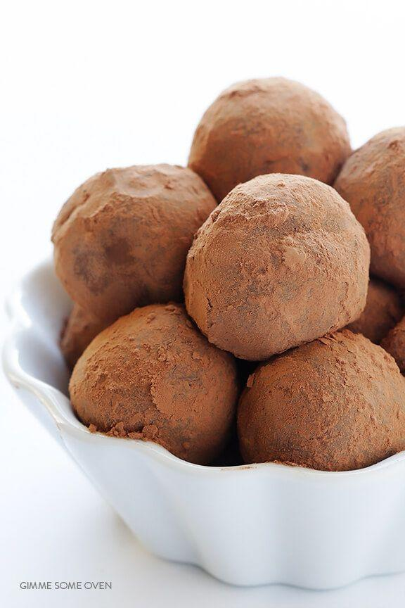 "<p>These five-ingredient truffles are a simple, sophisticated way to celebrate the Irish.</p><p><a href=""https://www.gimmesomeoven.com/5-ingredient-whiskey-dark-chocolate-truffles/"" rel=""nofollow noopener"" target=""_blank"" data-ylk=""slk:Get the recipe from Gimme Some Oven »"" class=""link rapid-noclick-resp""><em>Get the recipe from Gimme Some Oven »</em></a></p>"