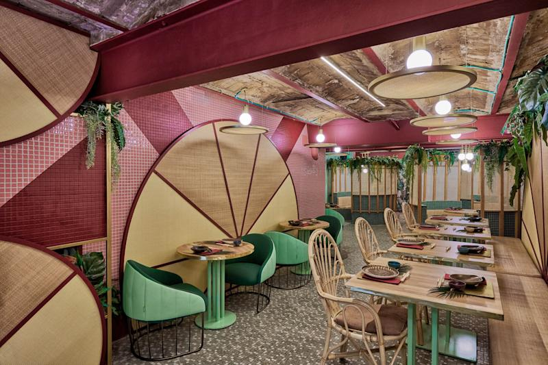 As you might imagine, the food is as colorful and vibrant as the interior.