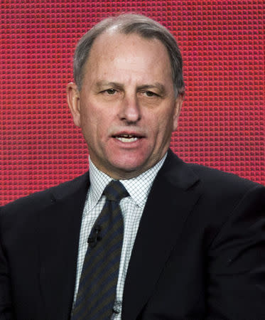 "FILE PHOTO:  Fager of the show ""60 Minutes Sports"" speaks during the Showtime panel presentation of the 2013 Winter TV Critics Association Press Tour in Pasadena"