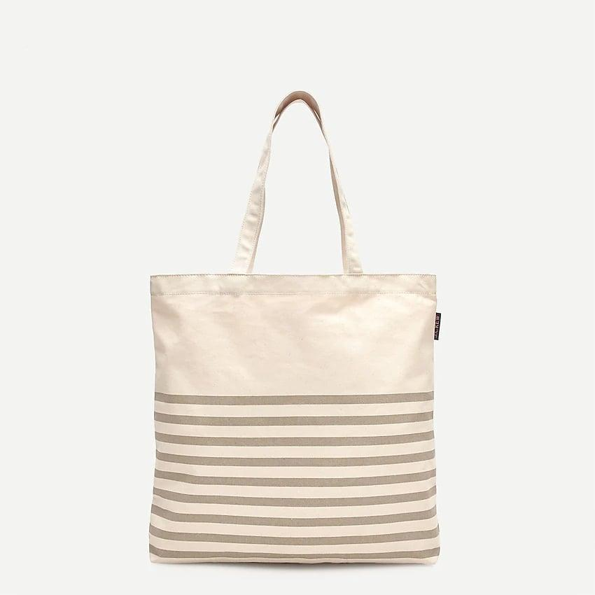 <p>This <span>J. Crew Reusable Everyday Tote</span> ($10) can be used to hold your computer and snacks.</p>