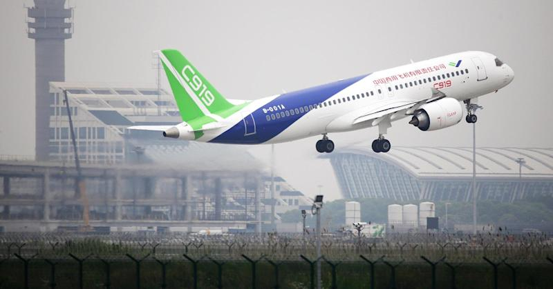 China takes fight to Boeing and Airbus with successful passenger jet test