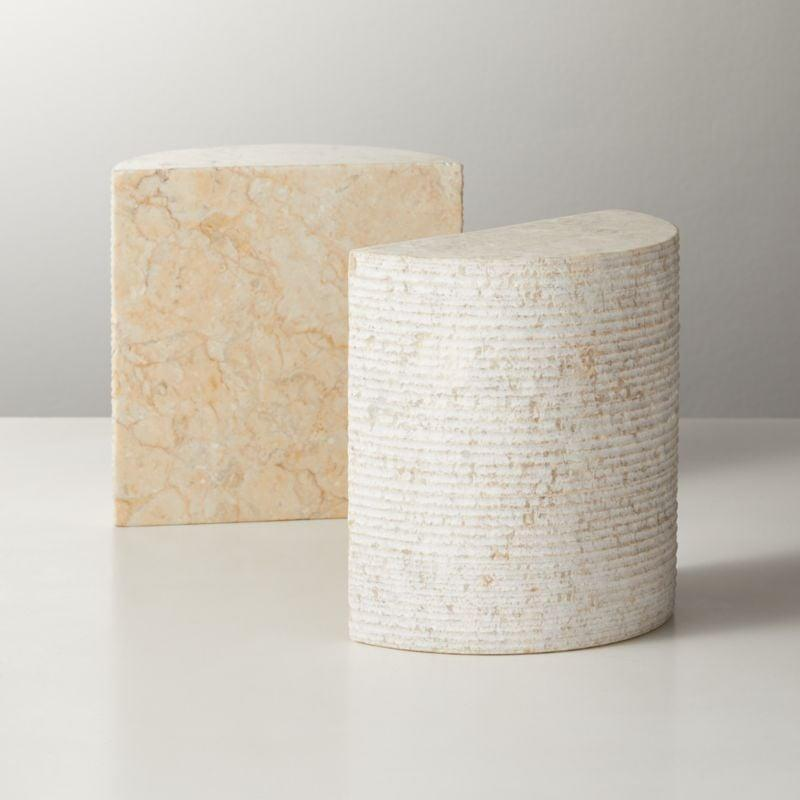 <p>Who doesn't want cute <span>CB2 Column Marble Bookends</span> ($40)?</p>