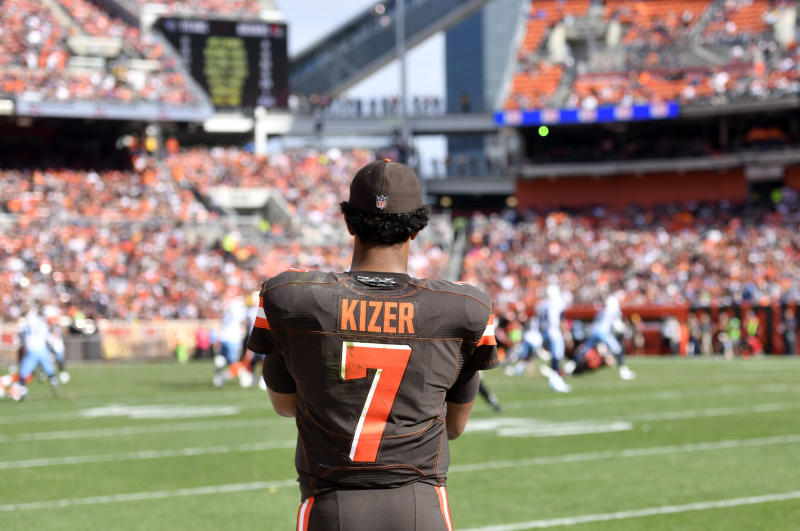 Cleveland Browns quarterback DeShone Kizer was benched in Week 7, but will start in Week 8. (AP)