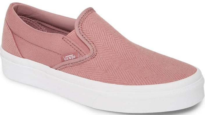 Textured fabric gives these Vans an air of respectability.