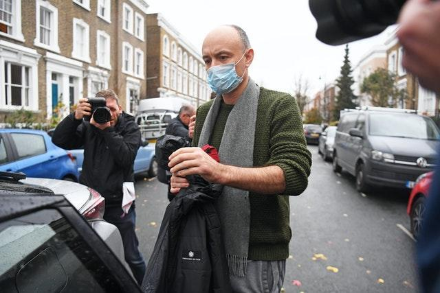 Dominic Cummings outside his north London (Kirsty O'Connor/PA)