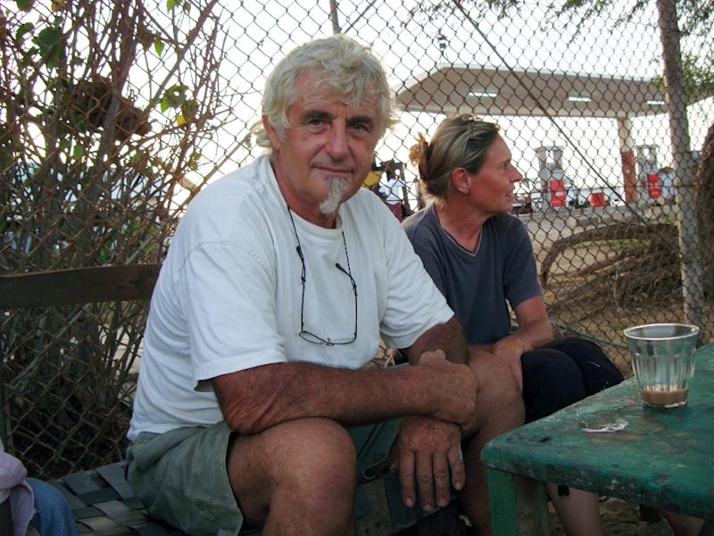 German nationals Jurgen Kantner and his wife Sabine Merz pictured in Berbera, Somalia on May 5, 2009