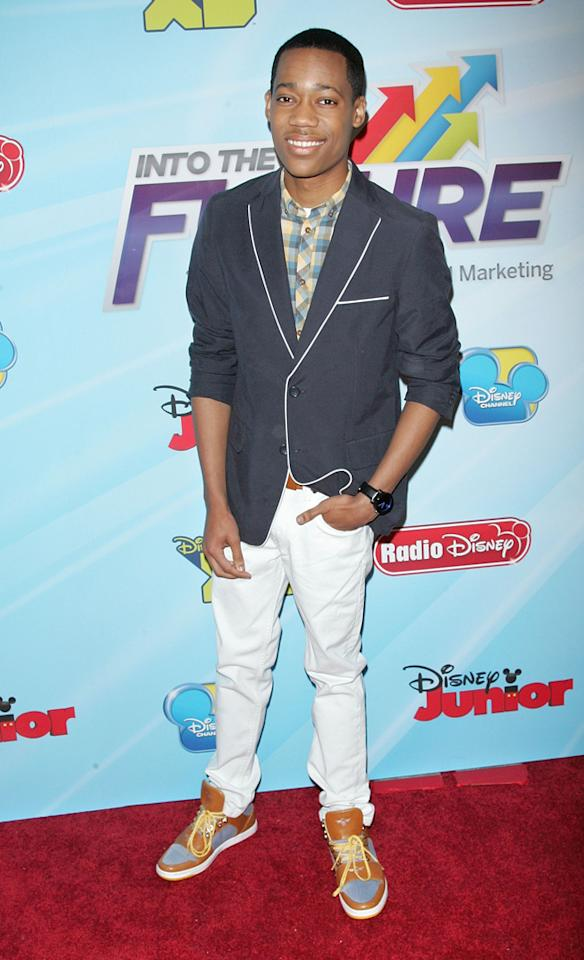 Tyler James Williams attends the 2012-13 Disney Channel Worldwide Kids Upfront at the Hard  Rock Cafe - Times Square on March 13, 2012 in New York City.
