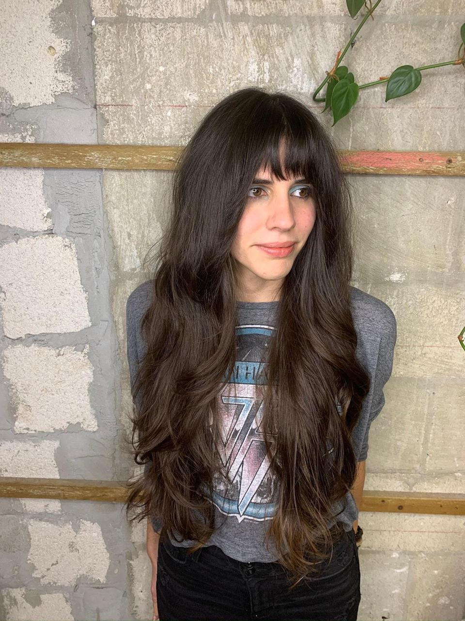 """The shag is still going strong in Miami, but stylists are giving it an update with long layers. """"This cut is awesome for any length, hair texture, and face shape,"""" says Rossana Rojas, stylist at Miami's <a href=""""http://juniorandhatter.com/"""" rel=""""nofollow noopener"""" target=""""_blank"""" data-ylk=""""slk:Junior & Hatter"""" class=""""link rapid-noclick-resp"""">Junior & Hatter</a> Salon, adding that it's been her top requested cut for the past year due to its effortless look."""