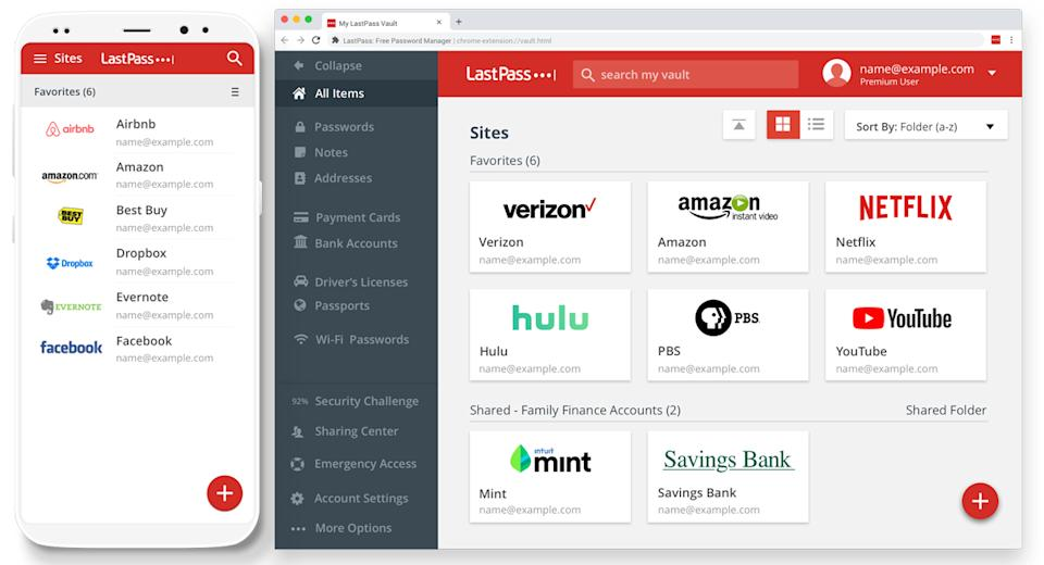 Never forget a password again. LastPass remembers them all for you. (Photo: LastPass.com)