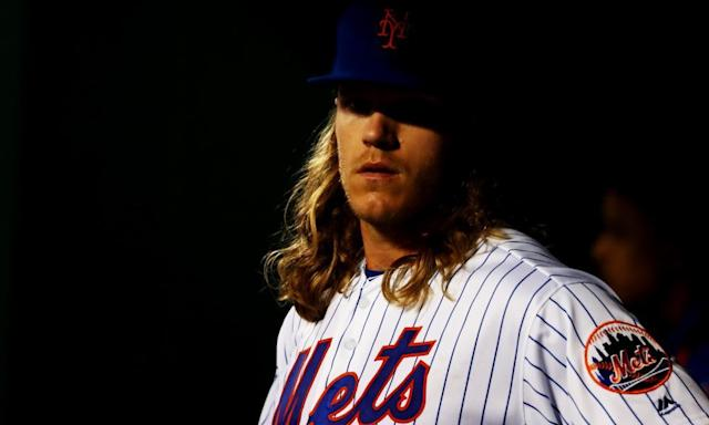 """<span class=""""element-image__caption"""">Noah Syndergaard is the latest New York Mets pitcher to go down with an injury. </span> <span class=""""element-image__credit"""">Photograph: Al Bello/Getty Images</span>"""