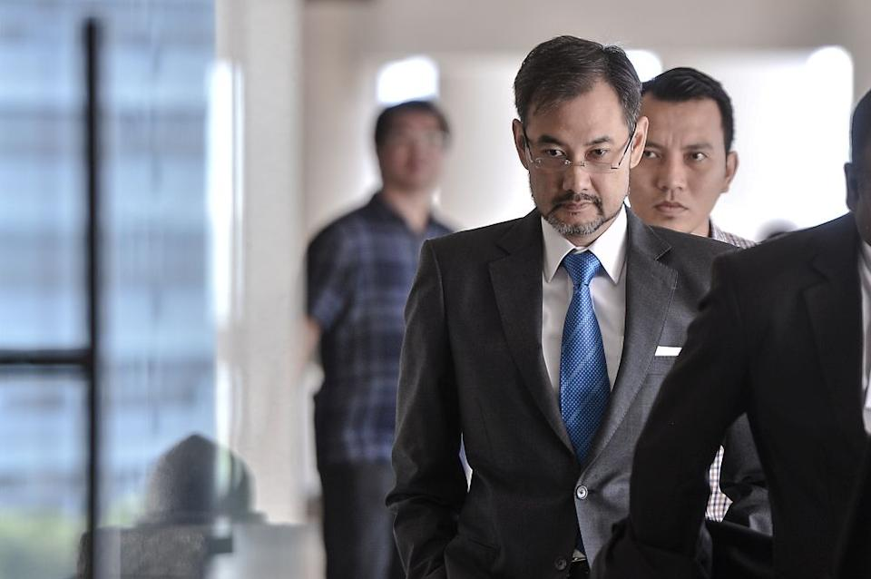 Former 1MDB chief executive officer Datuk Shahrol Azral Ibrahim Halmi is pictured at the Kuala Lumpur Court Complex October 17, 2019. — Picture by Shafwan Zaidon