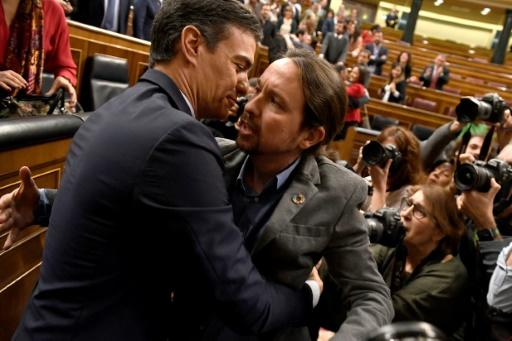 After months of squabbling which ended in a fourth election, Socialist leader Pedro Sanchez and Podemos' Pablo Iglesias finally reached agreement, although it is something of an awkward embrace