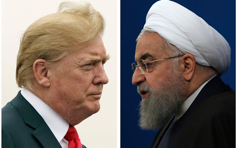 Iranian president Hassan Rouhani, right, said Donald Trump's White House is