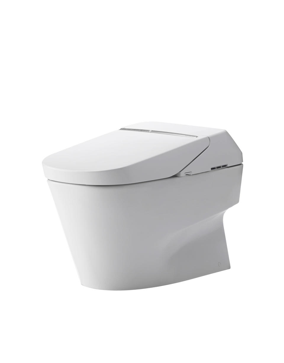 This photo provided by TOTO shows a NEOREST 700 high tech toilet. A new generation of toilets may one day make toilet paper - and the need to put one's hands anywhere near the unspeakable - seem like chamber pots and outhouses: outdated and somewhat messy throwbacks reserved for camping trips. (AP Photo/TOTO)