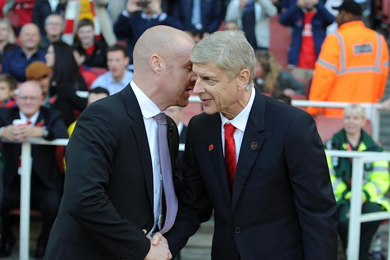 Dyche cannot imagine he'll be in line to succeed Wenger at the Emirates: Arsenal FC via Getty Images