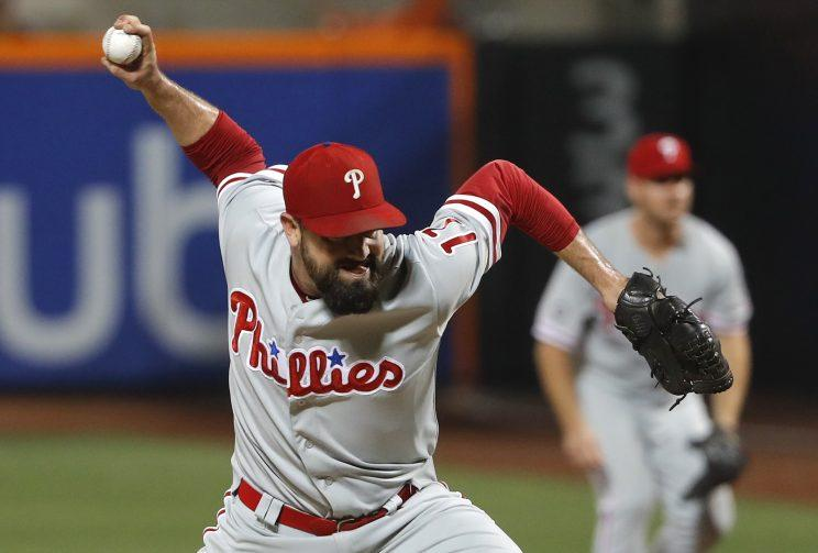 Veteran reliever Pat Neshek is headed to the Colorado Rockies in a four-player deal. (AP)
