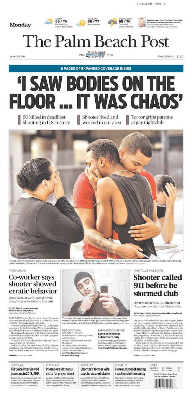 <p>The Palm Beach Post<br> Published in West Palm Beach, Fla. USA. (newseum.org) </p>