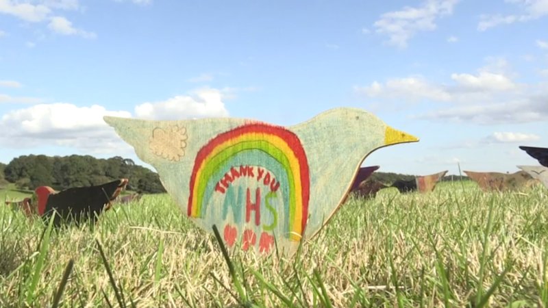 10,000 hand-painted birds to mark lockdown at historic mansion