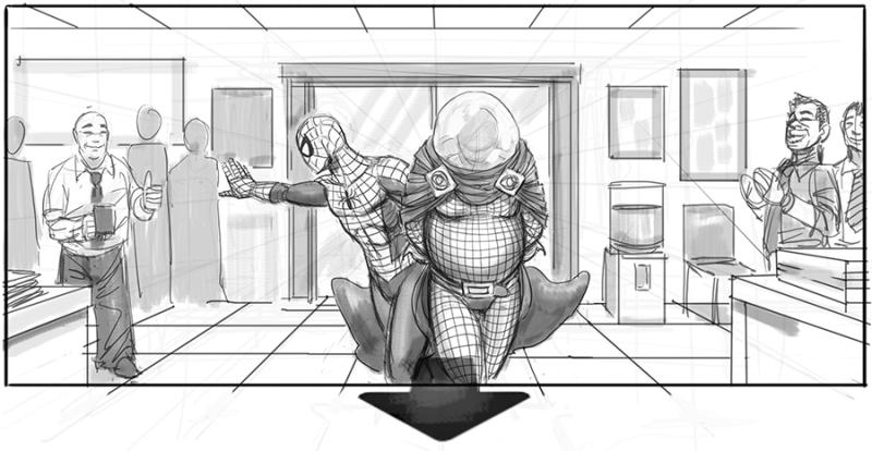 'Spider-Man 4' storyboards reveal concept art for Bruce Campbell's version of Mysterio (Photo: Jeffrey Henderson/Planet Henderson)
