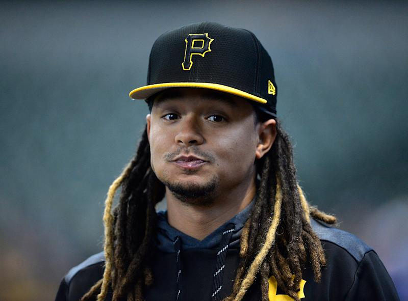 Chris Archer #24 of the Pittsburgh Pirates looks on before the game against the Milwaukee Brewers on Sept. 21. (Quinn Harris/Getty Images)