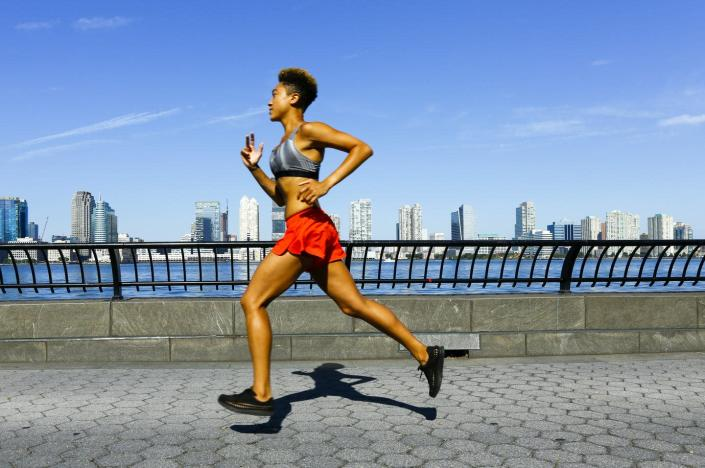 """<span class=""""caption"""">Exercise has many benefits, including boosting defenses against complications that occur during SARS-CoV-2 infections. </span> <span class=""""attribution""""><span class=""""source"""">Julien McRoberts / Getty Images</span></span>"""