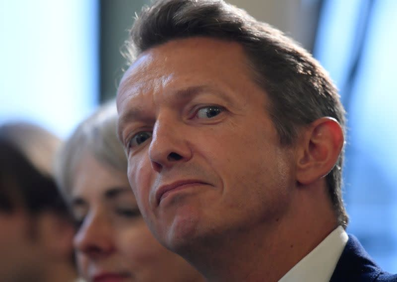 FILE PHOTO: The Chief Economist of the Bank of England, Andy Haldane, listens from the audience at an event at the Bank of England in the City of London