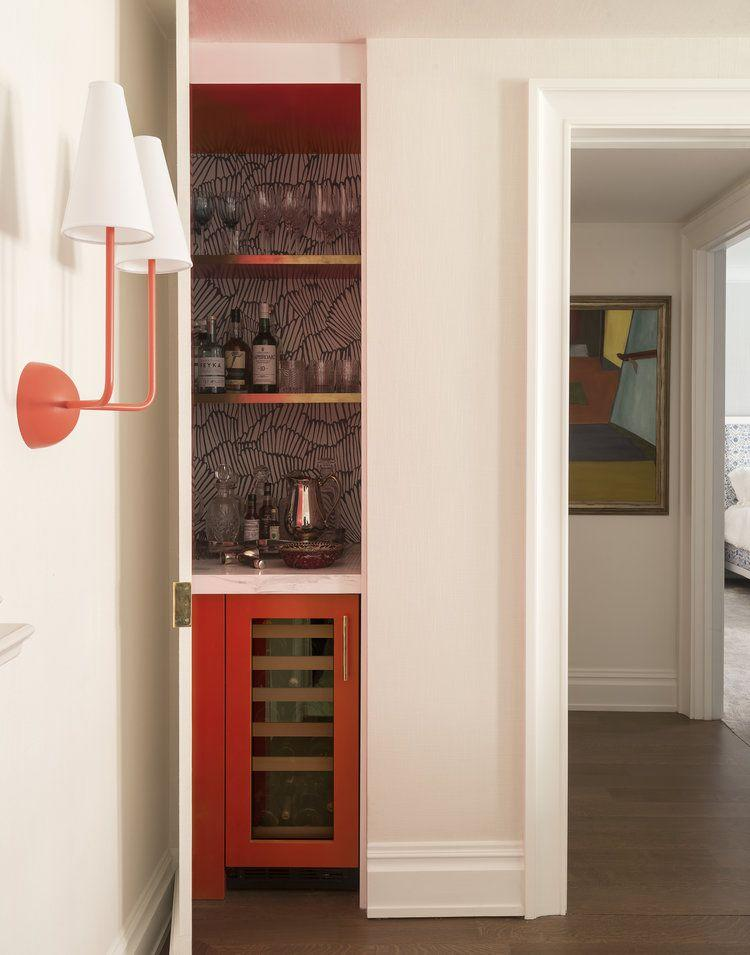 P Tuck Your Little Home Bar Behind A Closet Door And Line The Back