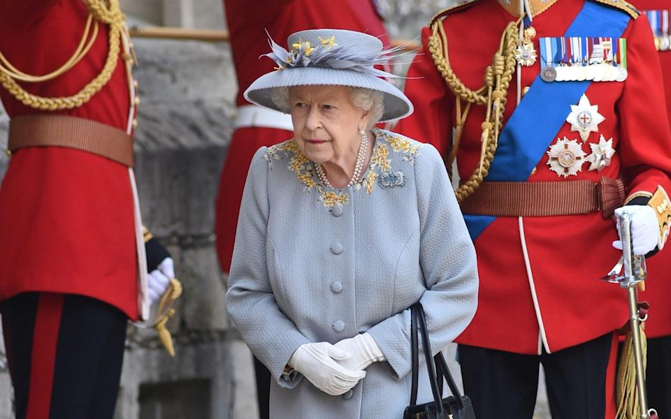 The Queen arrives for her official birthday parade - PA