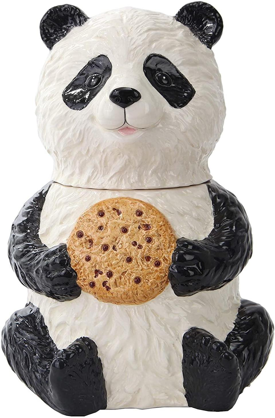 <p>You'll bake a whole batch of cookies just to store them in this adorable <span>Pacific Trading Panda Cookie Jar</span> ($27).</p>