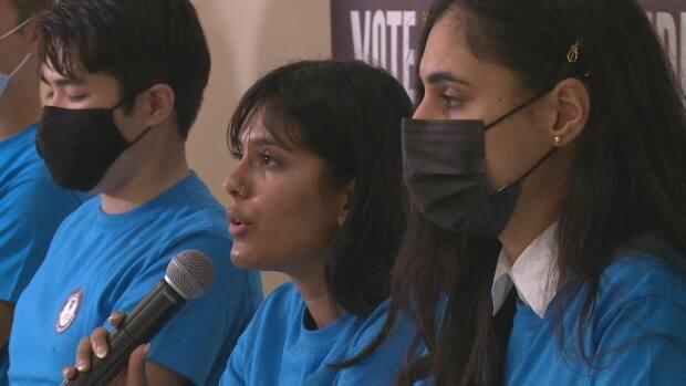 A student-run advocacy group, Fluoride: Pay it Forward, is urging students to vote for reinstating fluoridation in the Calgary municipal election. (Helen Pike/CBC - image credit)