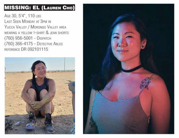 PHOTO: A missing persons poster seeks Lauren Cho who went missing June 28 in Yucca Valley, Calif. (    )