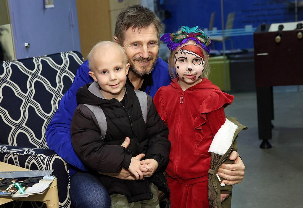 <p>The action star brought some cheer to some new friends at the Ronald McDonald House in New York City on Wednesday. (Photo: Monica Schipper/Getty Images for Ronald McDonald House New York) </p>