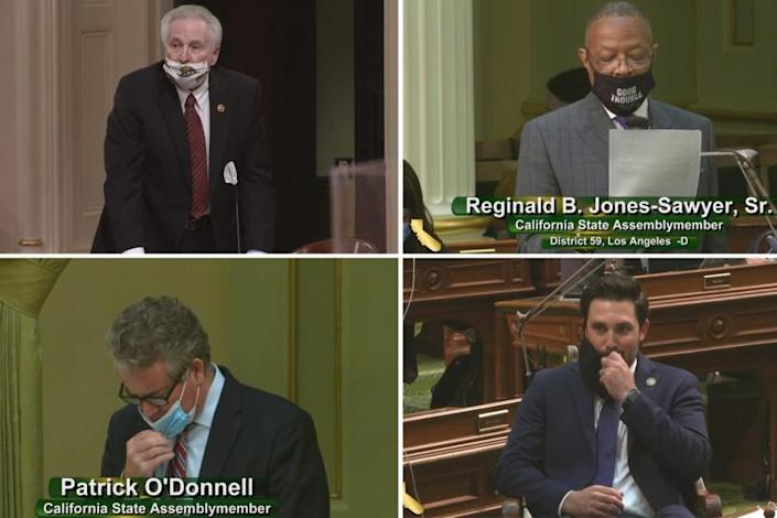 "Clockwise from upper left: State Sen. Jim Nielsen, Assembly members Reginald B. Jones-Sawyer Sr., Ian Calderon and Patrick O'Donnell <span class=""copyright"">(California State Senate; California State Assembly)</span>"