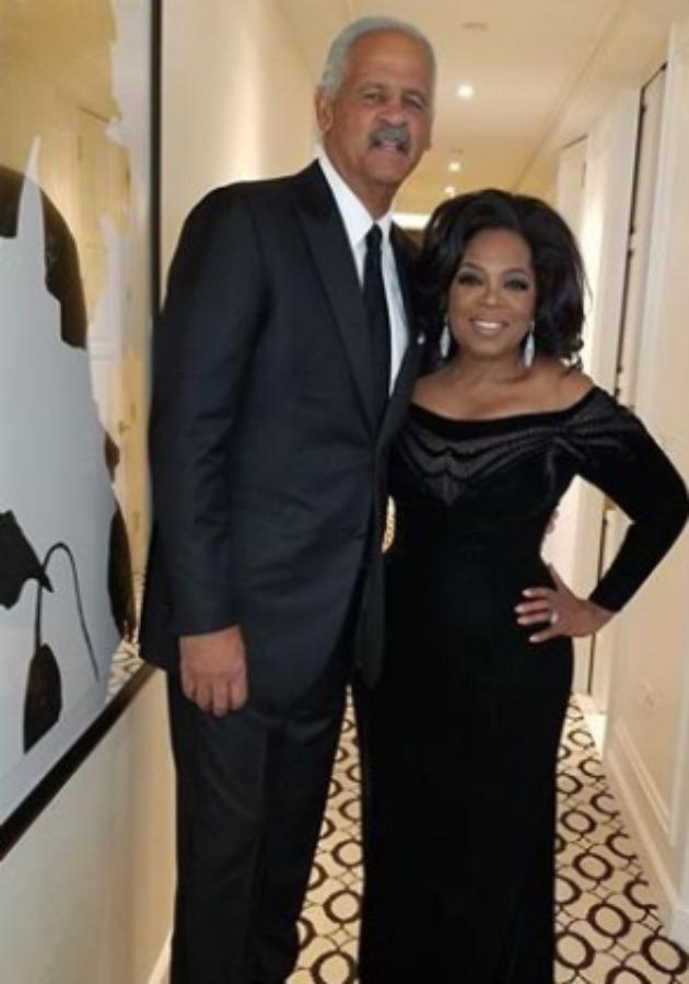 Oprah Winfrey, pictured with long-time partner Stedman Graham, revealed they don't step out in public too often so to avoid tabloid articles. Source: Instagram/oprah