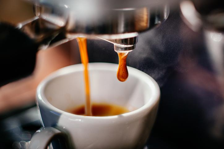 <p>If you're craving your usual morning cup of coffee, reach for an herbal tea instead. Caffeine is known to trigger the bowels, which is the last thing you need if your stomach is already hurting. </p>