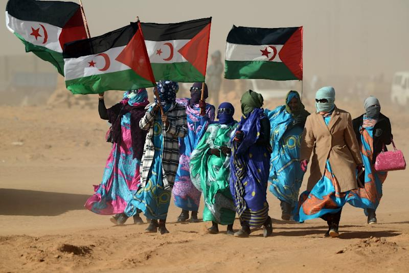 A confidential UN report last week accused both Morocco and the Polisario Front of ceasefire violations in Western Sahara after they sent security forces and fighters into the buffer zone (AFP Photo/Farouk Batiche)